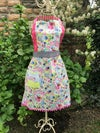 Full Apron,  Multi Color Flowers and Birds