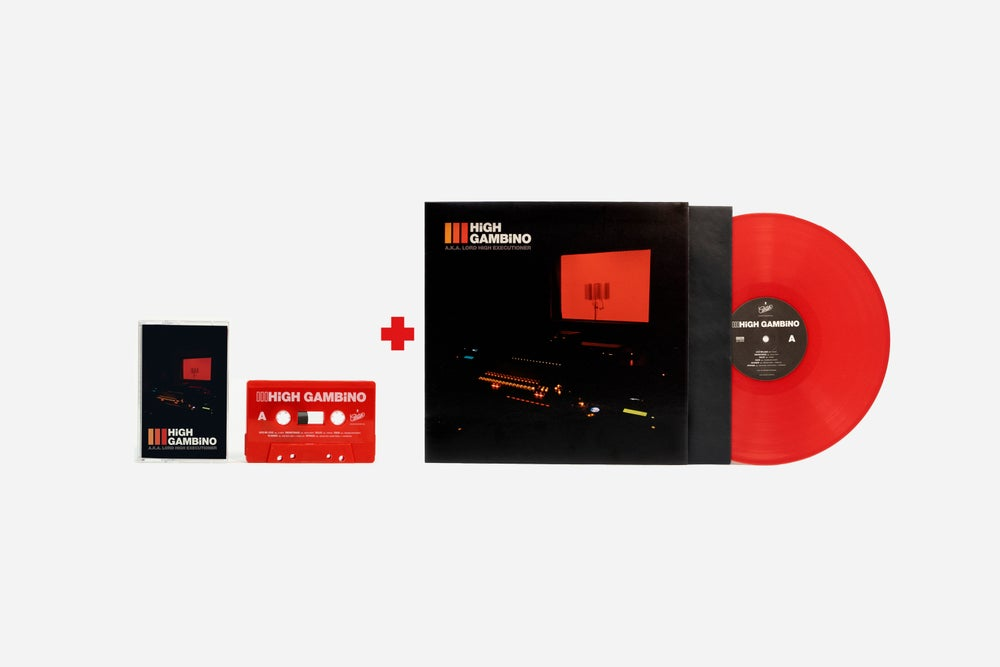 Image of High Gambino III. Pack: Red Vinyl edition + Red Cassette edition.