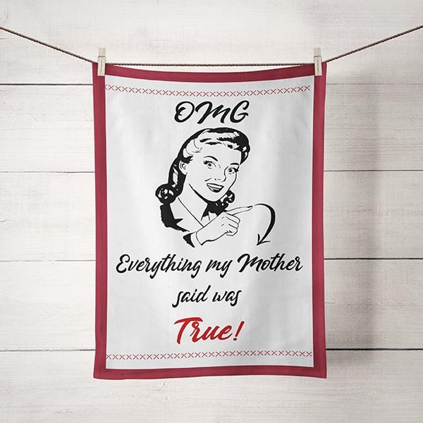 Image of Kitchen Dish Towel Witty Sarcastic Mom Humor
