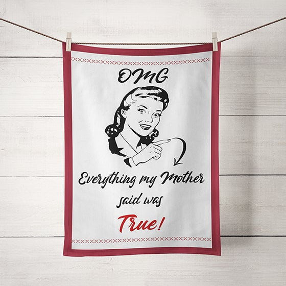 Image of Kitchen Dish Towel Witty Sarcastic Mom Humor