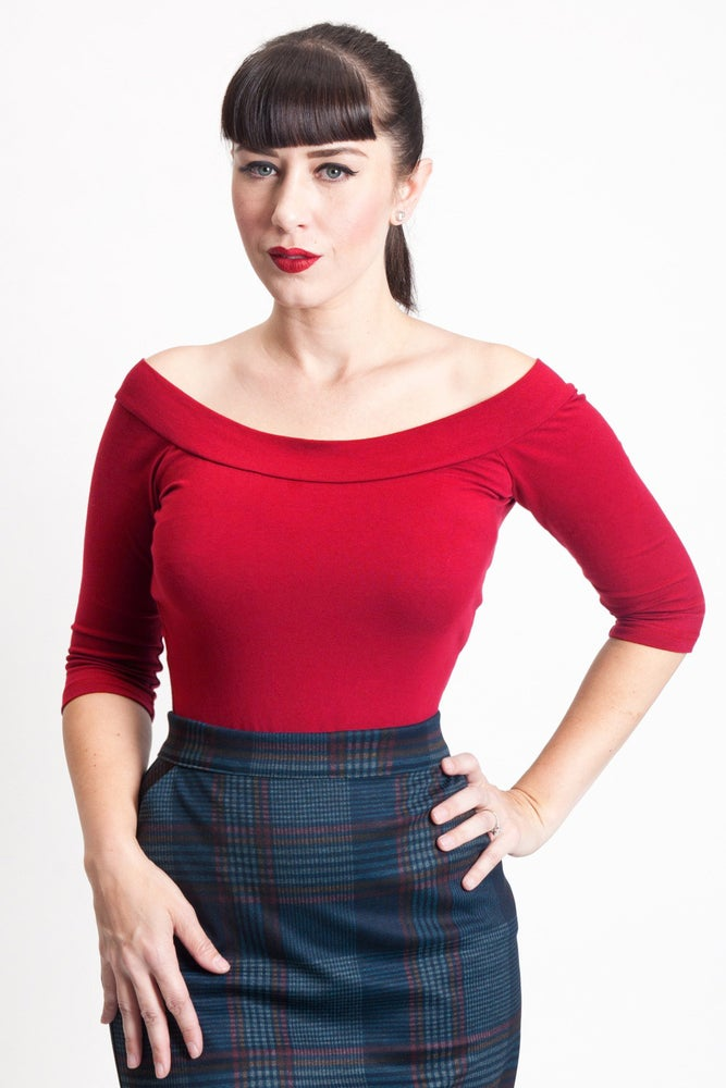 Image of The Monroe Top-  Red