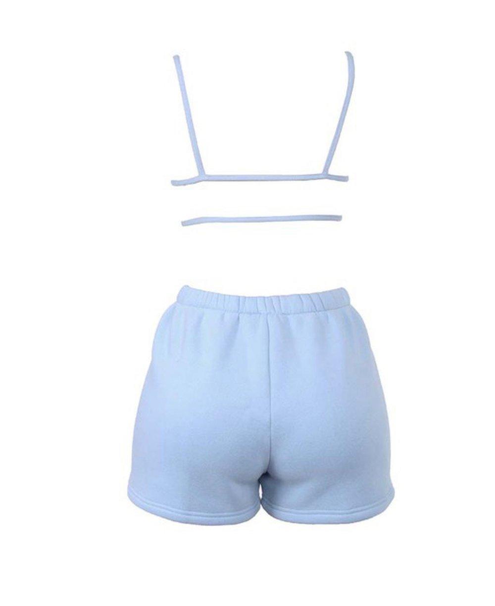 Image of Baby Blue Jogger | Short Set