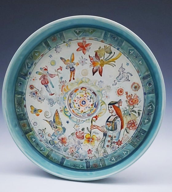 Image of Porcelain Enchanted  Garden Platter