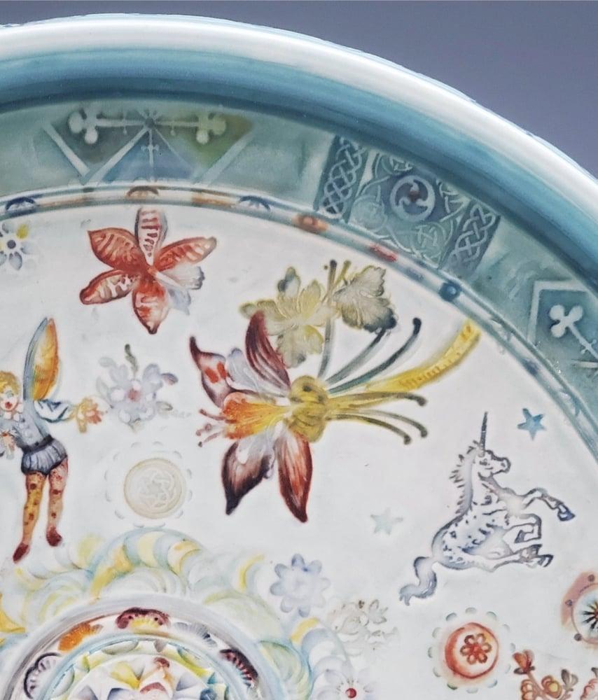 Image of Porcelain Enchanted  Garden Platter