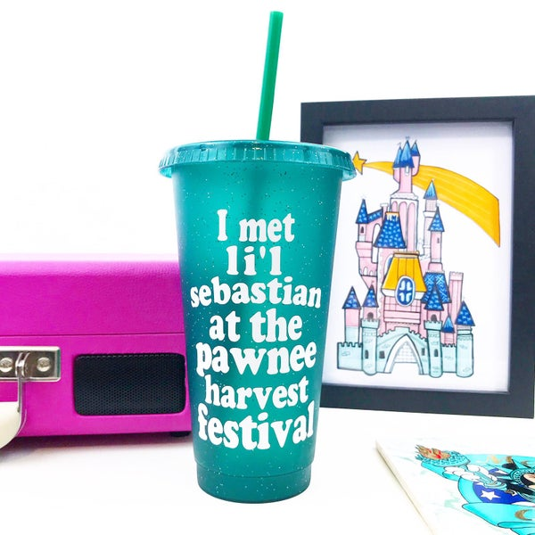 Image of Lil Sebastian Reusable Glitter Cold Cup