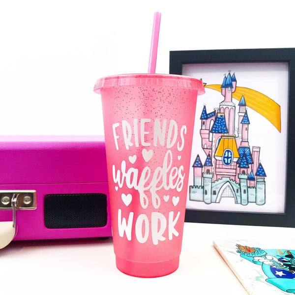 Image of Leslie Reusable Glitter Cold Cup
