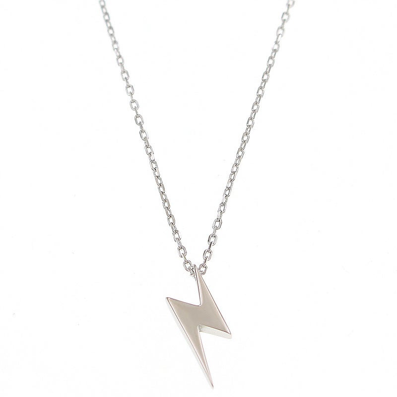 Lightning Bolt - Silver Pendant and Chain