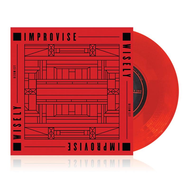 "Image of 7"" Vinyl - Redmist - Improvise Wisely (CNP011) Lava Red Vinyl"