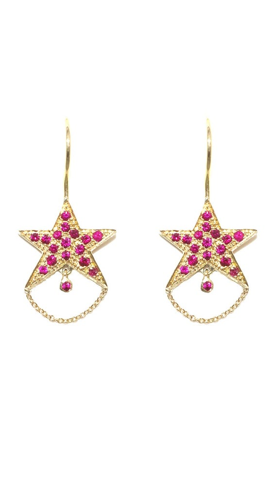 Image of Un Hada Star Earrings