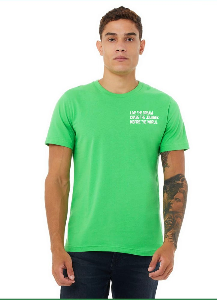 Image of Live.Chase.Inspire Unisex Shirt (Synthetic Green)