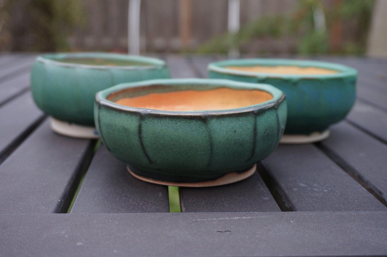 Image of Green/Shino Tea Bowls