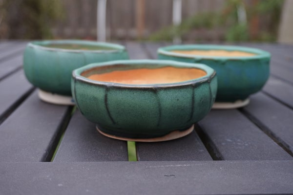 Image of Green/Shino Tea Bowls