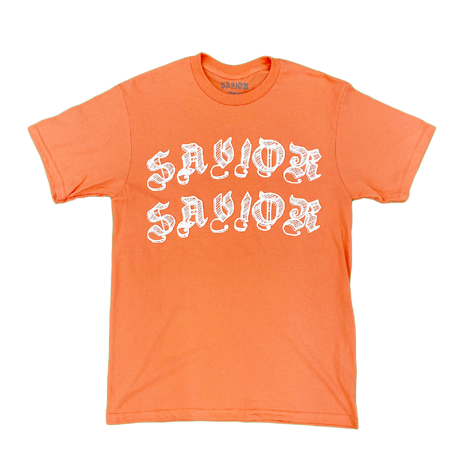 Image of Savior Worldwide Tee- Coral