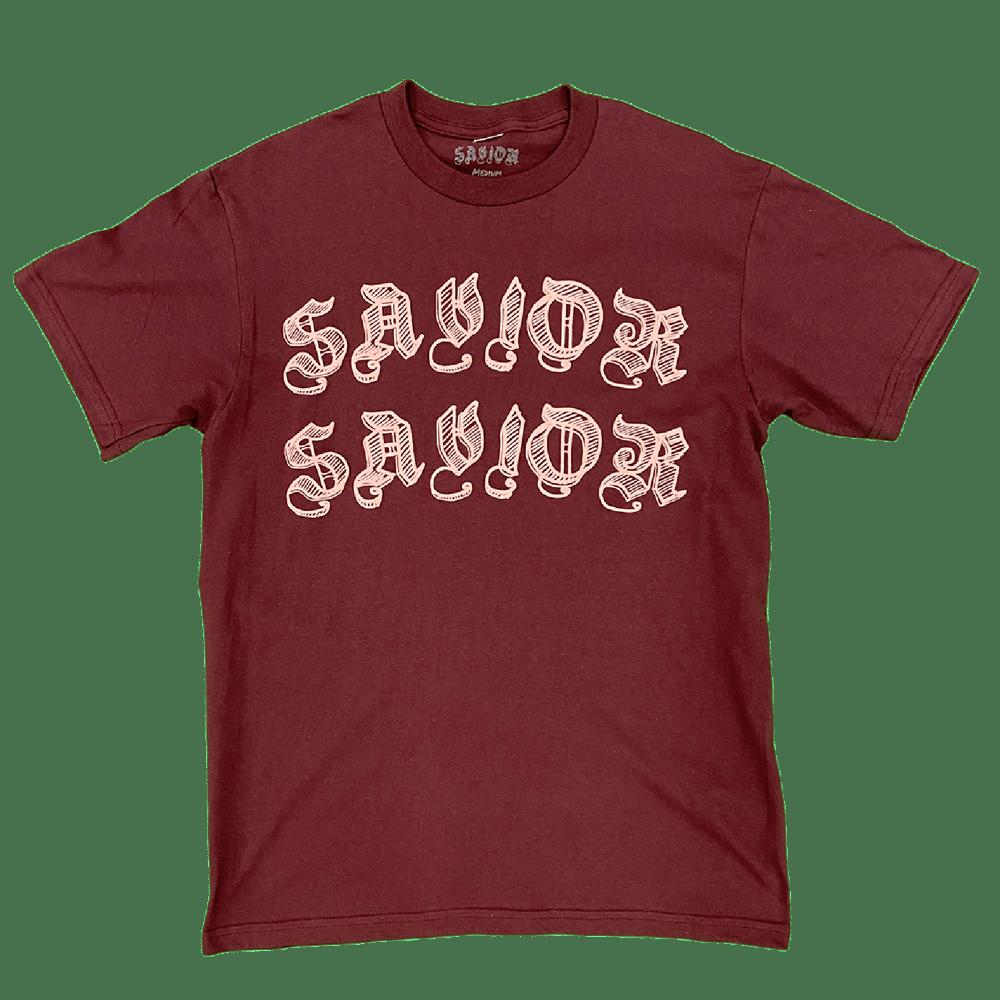 Image of Savior Worldwide Tee- Maroon