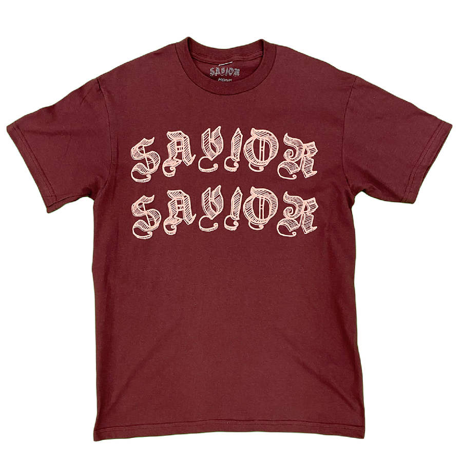Image of Savior Worldwide Tee- Maroon