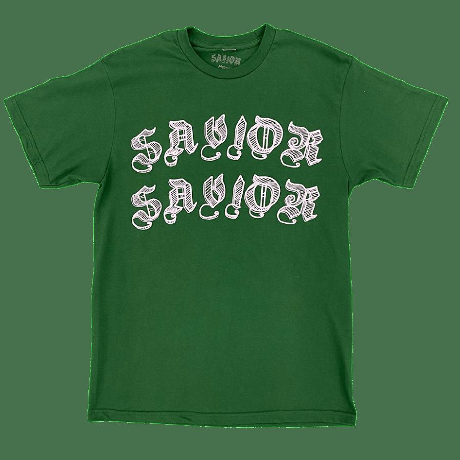 Image of Savior Worldwide Tee- Dark Green