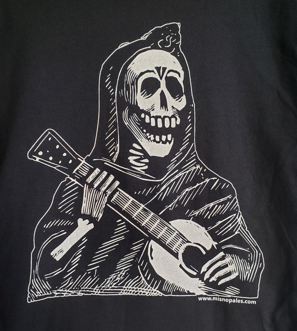 Posada's Calavera with Guitar YOUTH T-Shirt M L