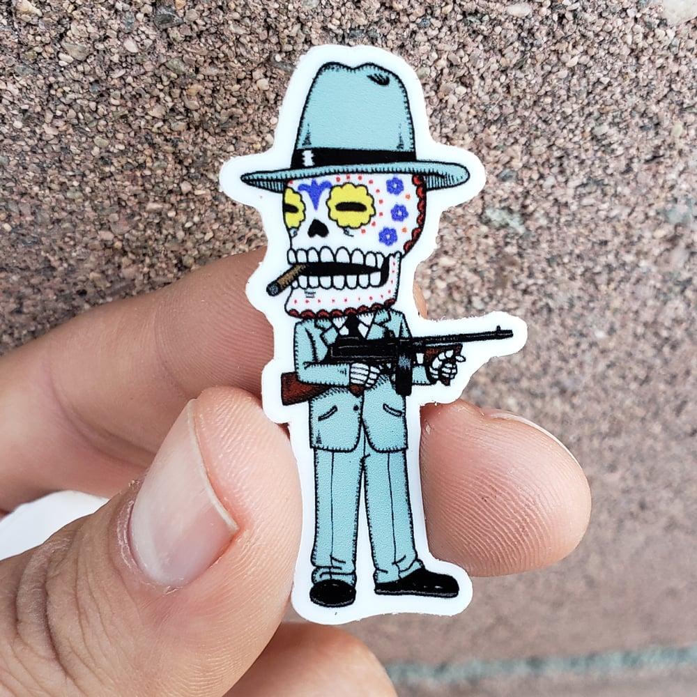 "Smooth Criminal Calavera Mini 2"" Vinyl Sticker"