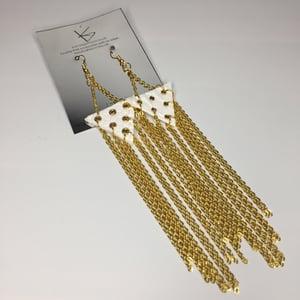 Image of Chain tassel earrings