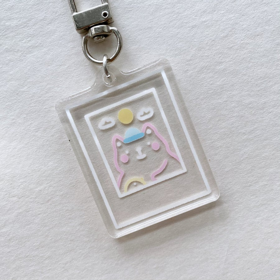 Image of Cat and Burd Acrylic Keychain