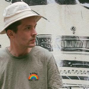 Image of Radio Love Love - Rainbow Tee - Mid Heather Khaki