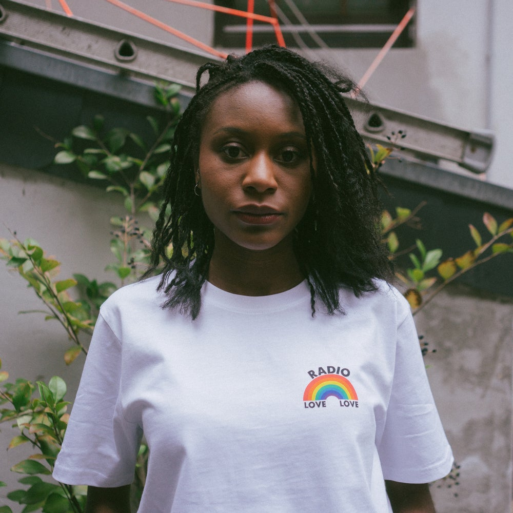 Image of Radio Love Love - Rainbow Tee - White