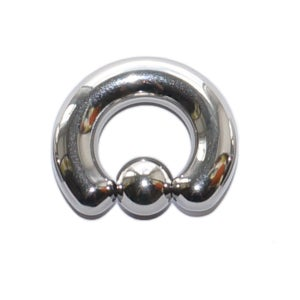 Image of Large Gauge Heavy BCR Steel Piercing Ring  - 8mm & 10mm