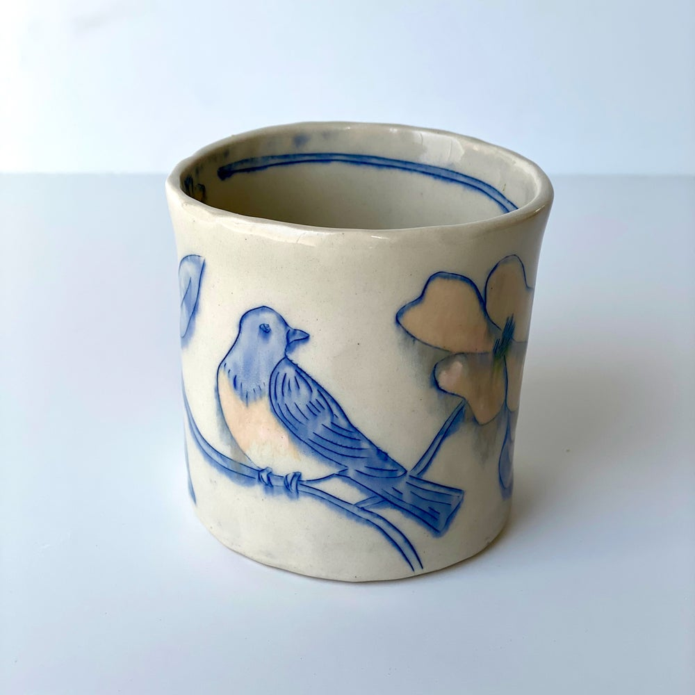 Image of Bluebird and Dogwood Cup