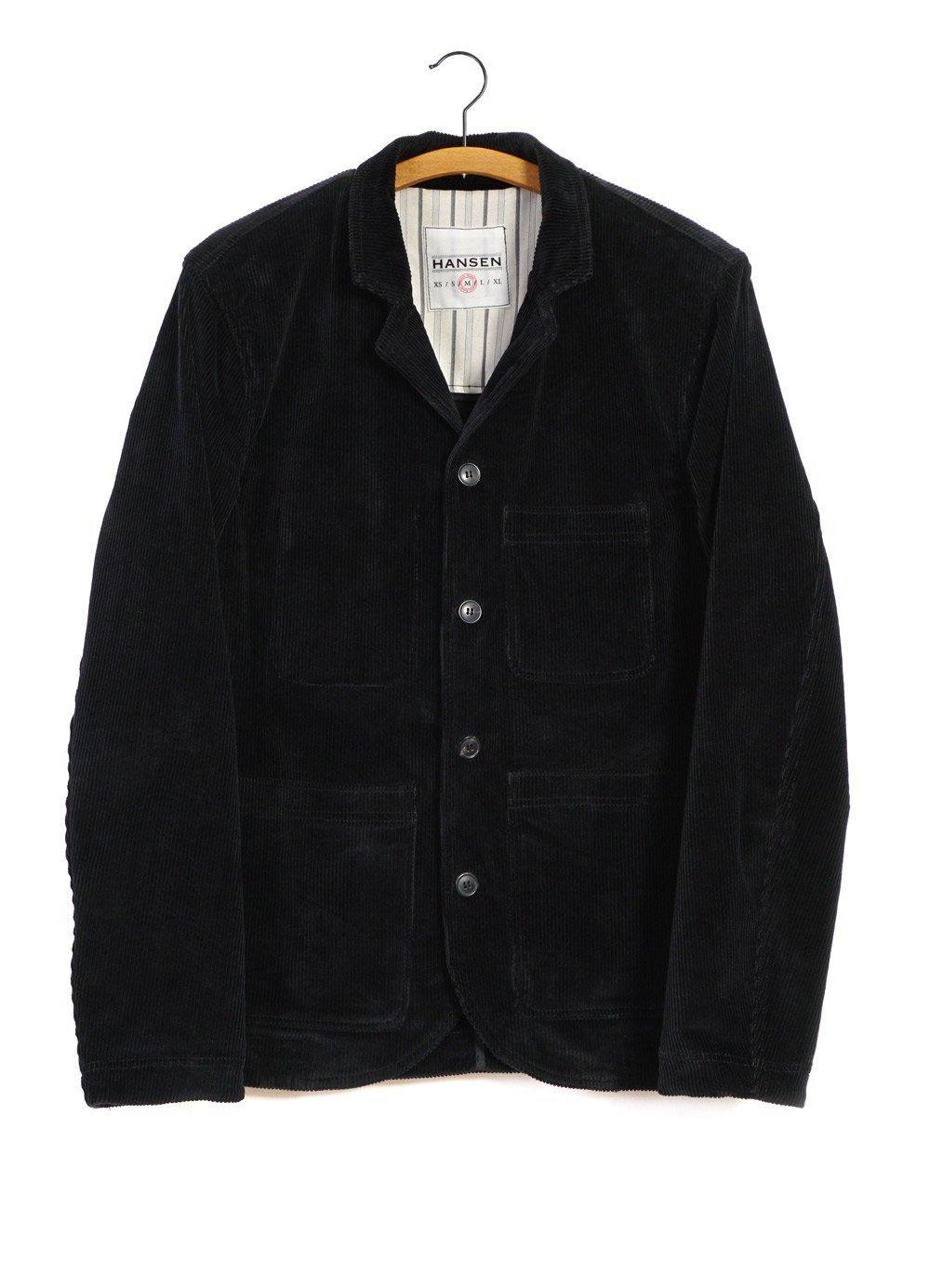 Hansen Garments NICOLAI | Informal Four Button Blazer | Black