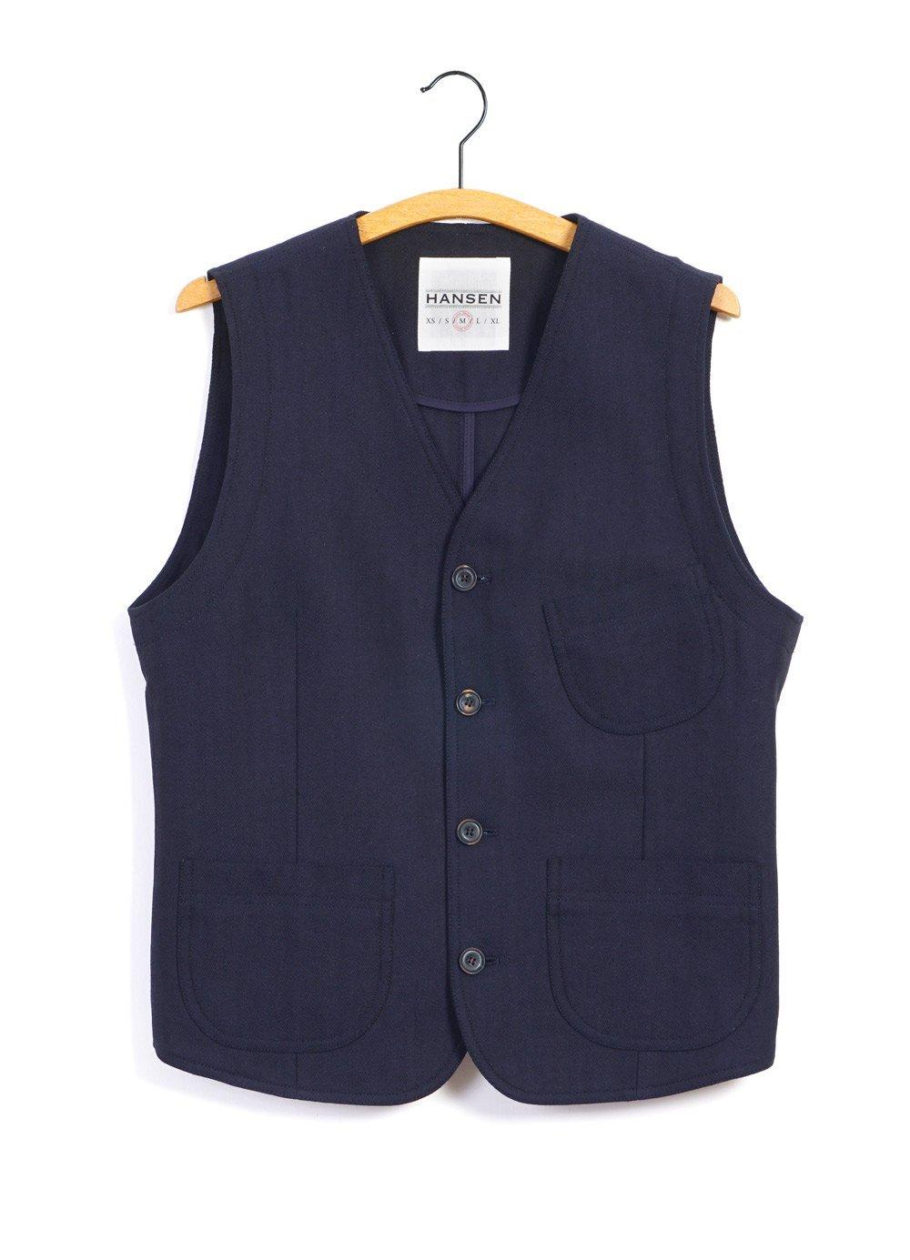 Hansen Garments HARALD | Casual Waistcoat | Indigo