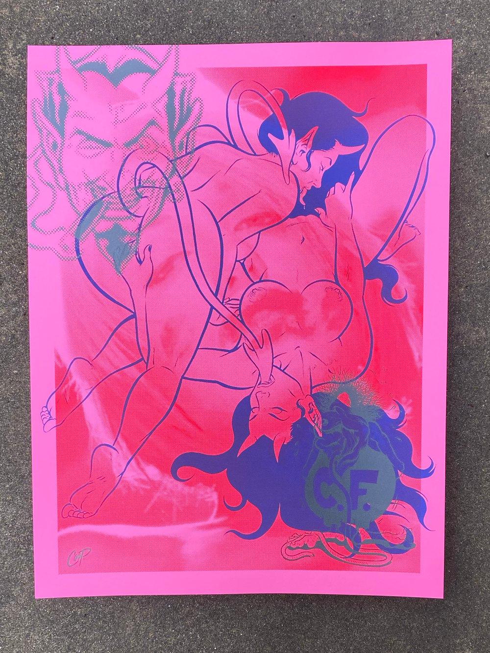 Image of CLOSE FRIENDS Silkscreen Print