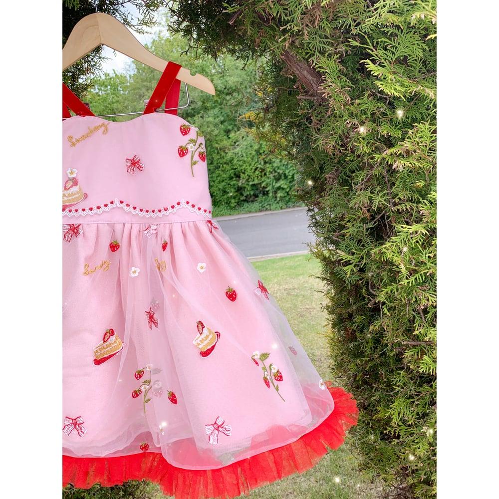 Image of The strawberry cake dress 🍰🍓
