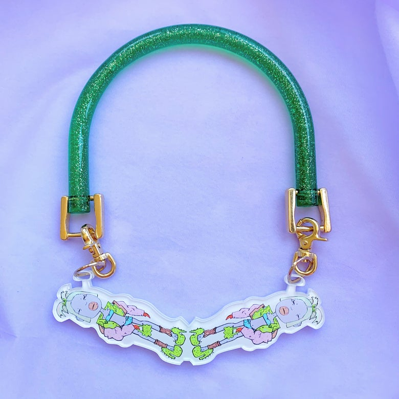 Image of Y2K Girlz Glitter in Plastic One-Off Necklace