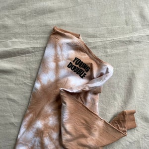 Humanity Tie Dye Long Sleeve T-shirt in Rusted