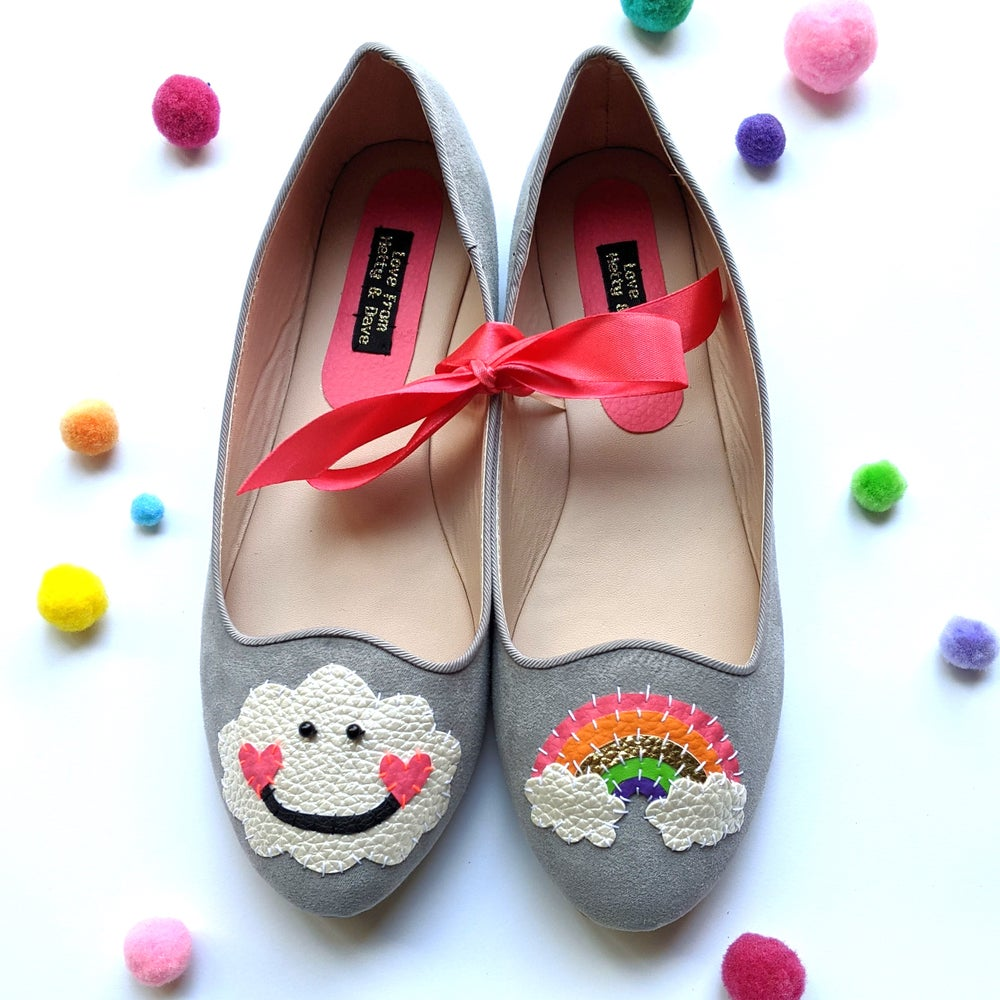 Image of Happy Cloud Rainbow Shoes