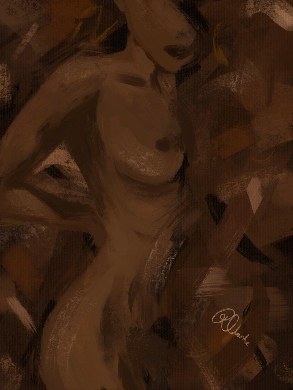 Image of Nala Abstract Nude Art Print