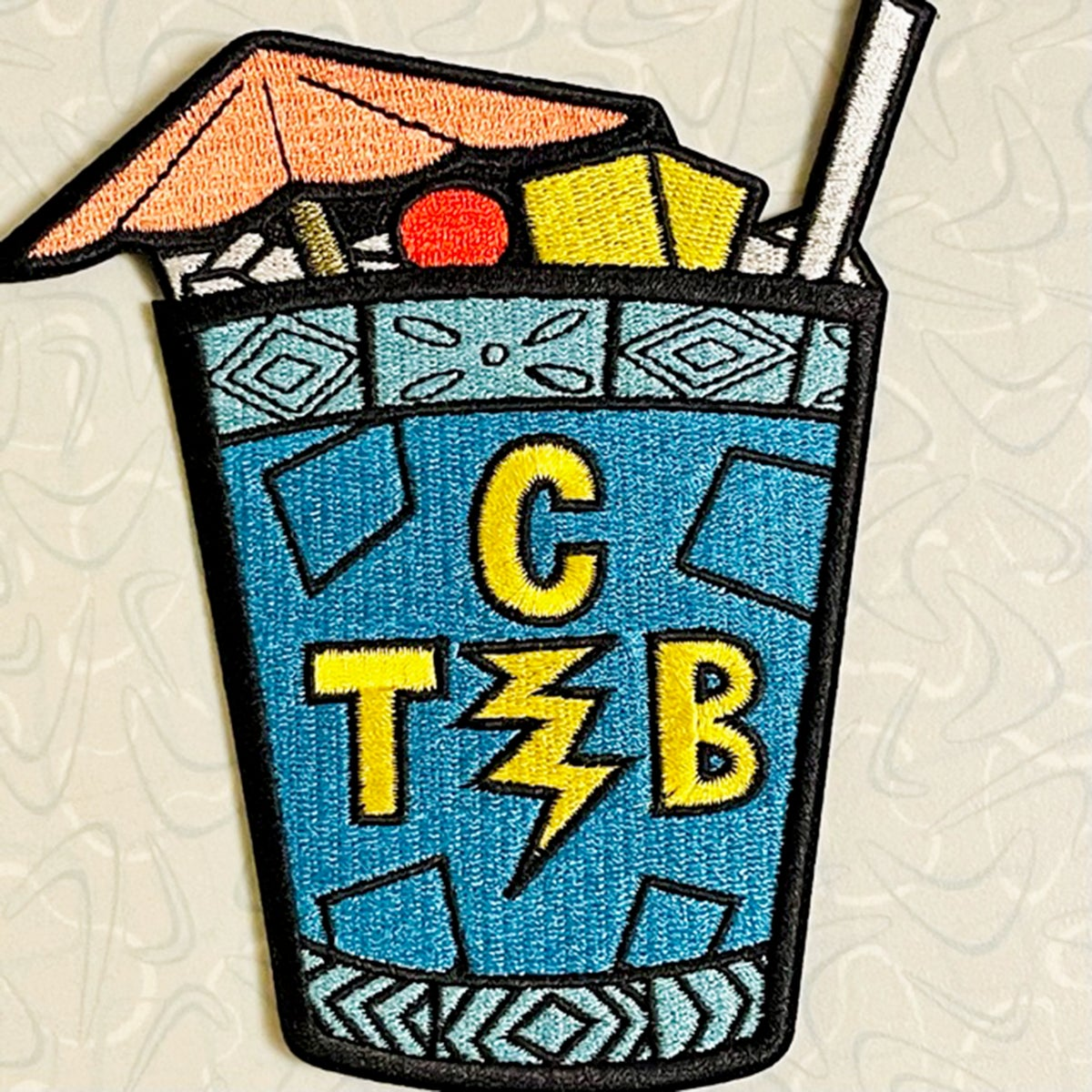 """TCB(lue Hawaiian) Elvis Tribute 5"""" Embroidered Patch"""