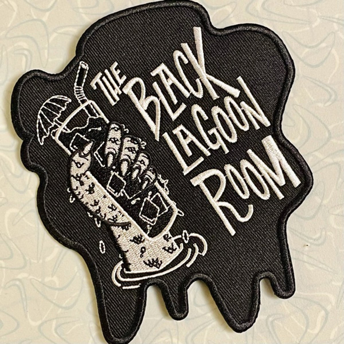 """BLACK LAGOON ROOM """"Drippy"""" Logo 5"""" Embroidered Patch"""