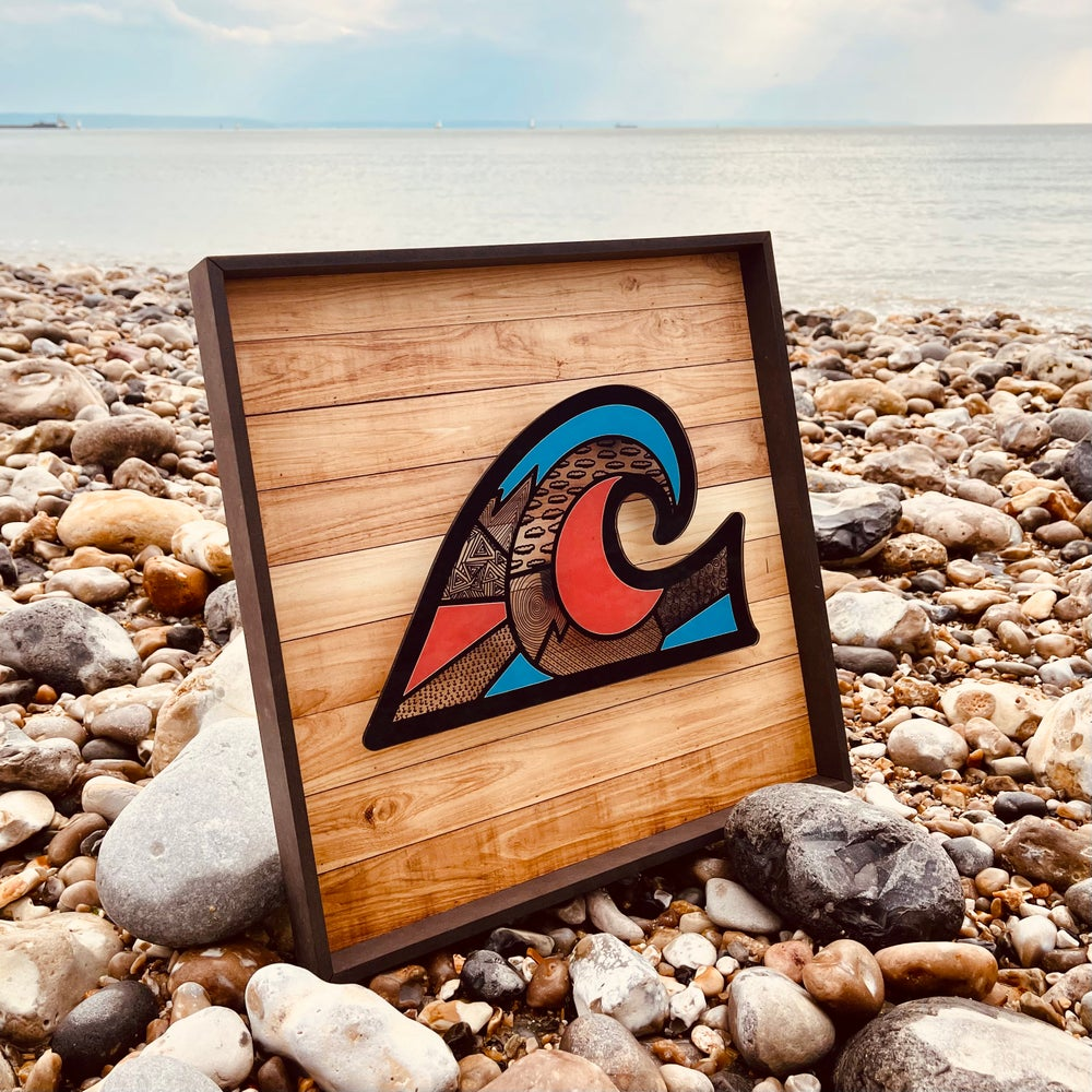 Image of WAVE ON WOOD