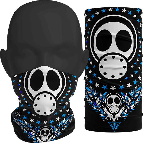 """Image of """"INFECT ALL STARS"""" Facemask (Blue)"""
