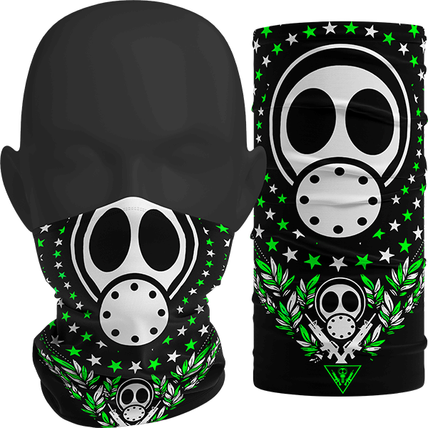 """Image of """"INFECT ALL STARS"""" Facemask (Green)"""