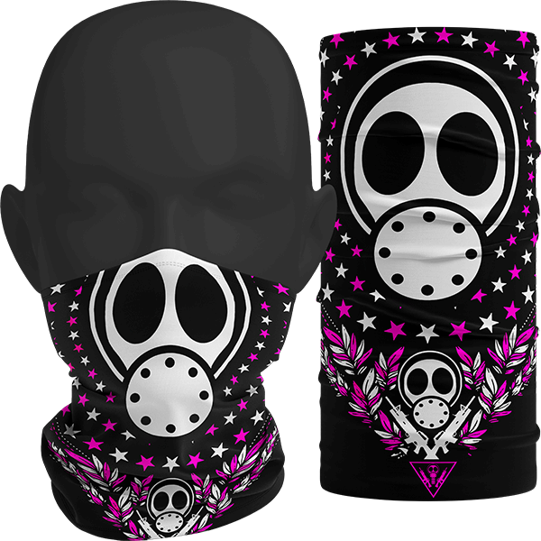 """Image of """"INFECT ALL STARS"""" Facemask (Pink)"""