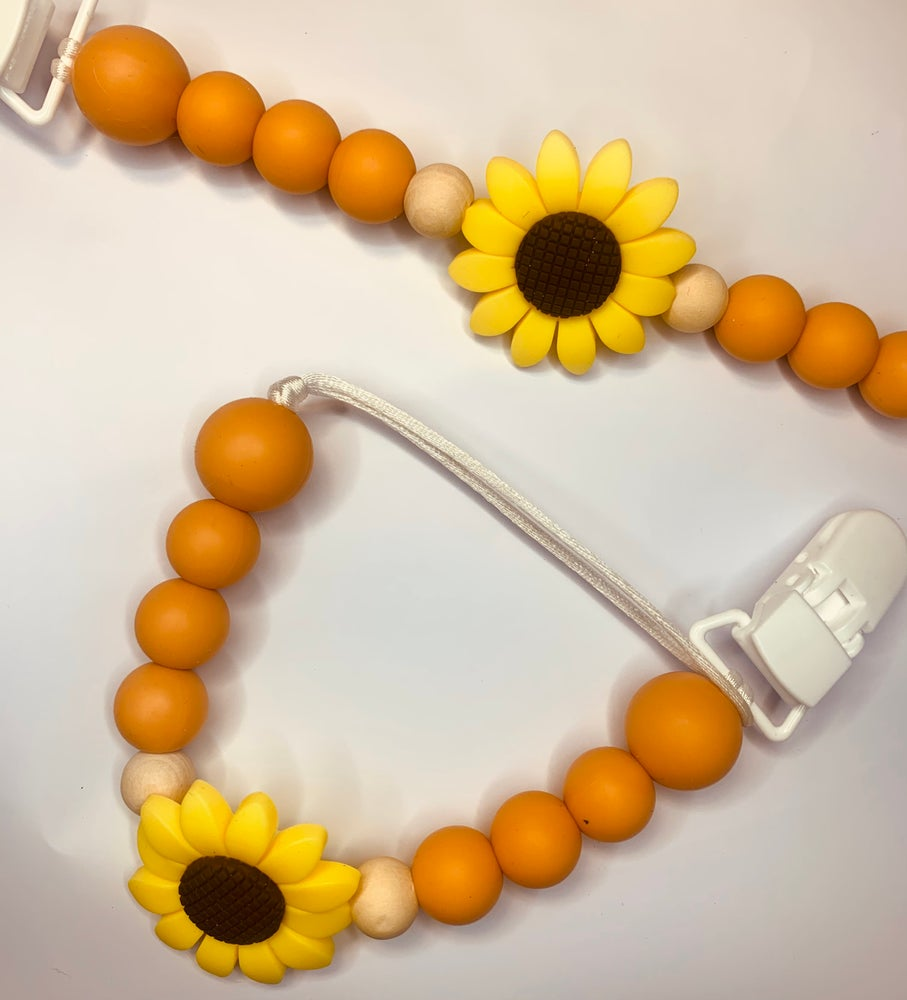Image of Sunflower Soother Clip