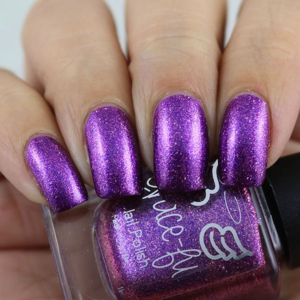 Image of A Mother's Love - a purple base full of rose gold metallic flakes and holo flakes