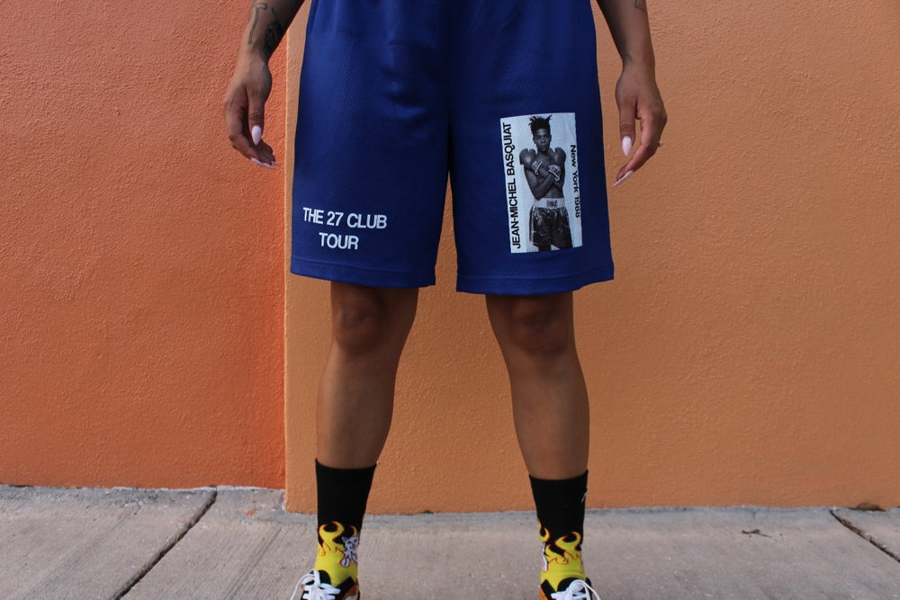 Image of Blue Basquiat Gym Shorts