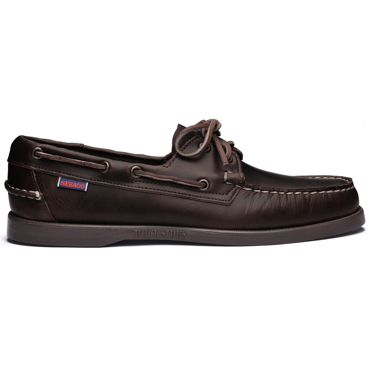 Image of Docksides total dark brown waxed calf by Sebago