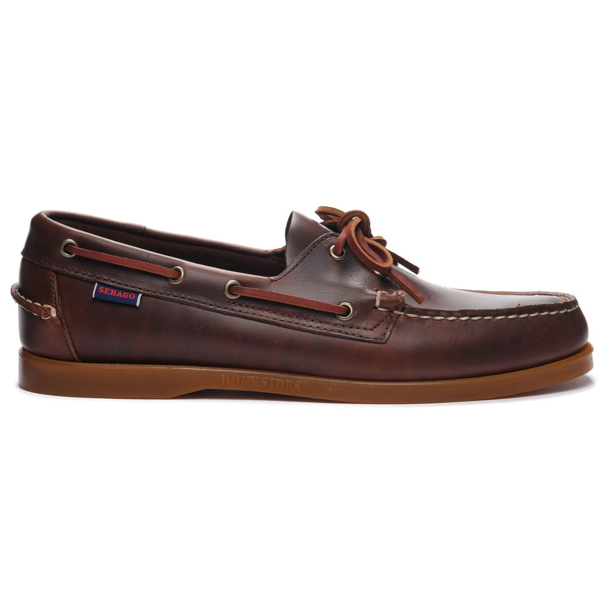 Image of Docksides brown waxed calf/honey by Sebago