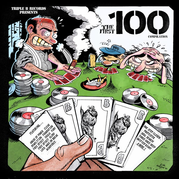 """Image of Triple B Records """"The First 100"""" Double LP"""
