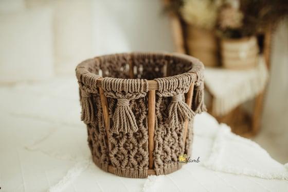 Image of Brown macrame basket - ready to ship