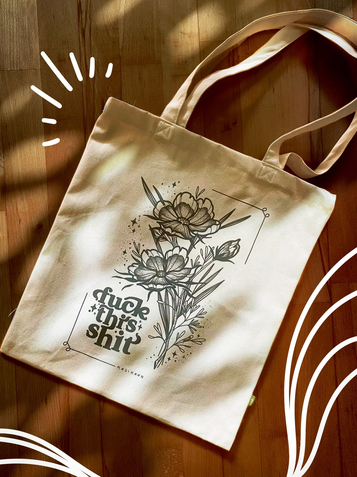 Image of Fck ths sht Tote Bag